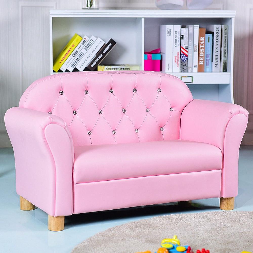 Giantex Kids Sofa Princess Armrest Chair Lounge Couch Loveseat Children Toddler Gift Modern Children's Furniture HW58811