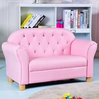 Giantex Kids Sofa Princess Armrest Chair Lounge Couch Loveseat Children Toddler Gift Modern Children's Furniture HW58811