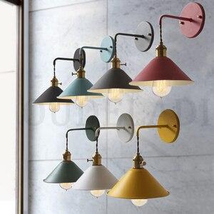 Image 1 - נורדי מודרני קיר אור מטריית מסעדה קישוט Macarons קיר מנורת סלון חדר שינה מעבר מדרגות המיטה בית תפאורה