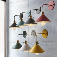 Nordic Modern wall light Umbrella Restaurant Decoration Macarons wall Lamp Living Room Bedroom Aisle Stairs Bedside Home Decor