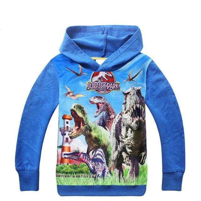 f58e2d0dd Children Cartoon Clothes Jurassic World Dinosaurs Hoodies Boys T ...