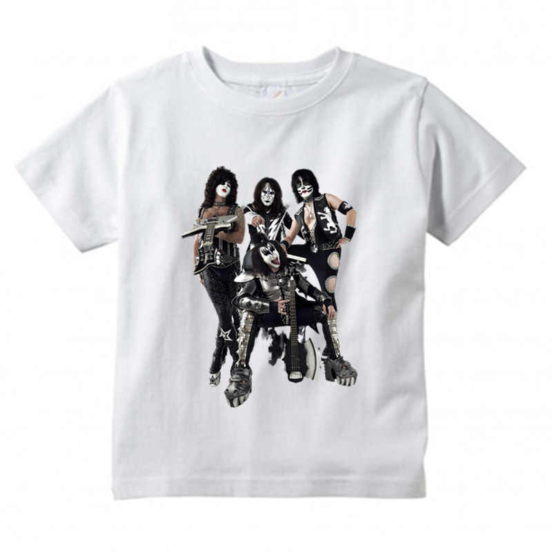 6760a69e0 Niños y Niñas stormtrooper ventiladores kiss banda de rock imprimir T-shirt  ropa para niños