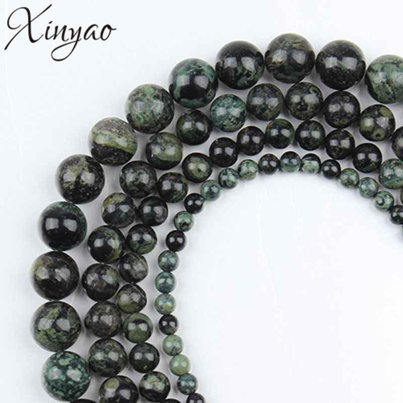 XINYAO 1 строка натуральный круглый свободные каменные бусины-разделители 4 6 8 10 мм для браслет из бусин, сделай сам Цепочки и ожерелья подвеска для изготовления ожерелья F2117