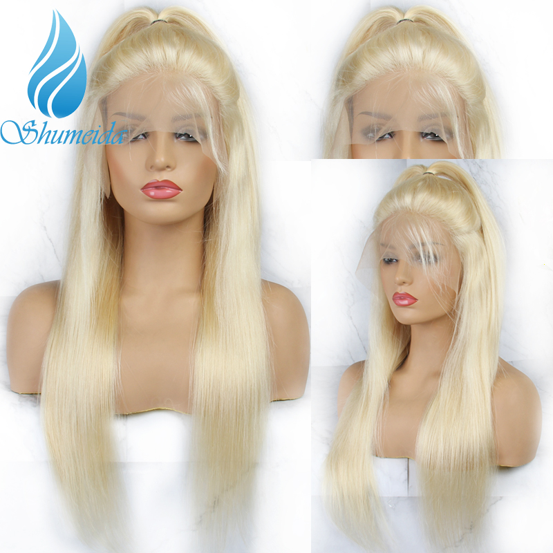 SHD 13 3 Brazilian Blonde Lace Front Human Hair Wig 613 Color Wigs With Baby Hair