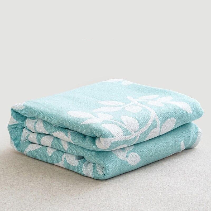 Haute qualité mousseline couette climatiseur jeter couverture pur coton 2 couches couette été respirant bébé literie ensembles 200x230