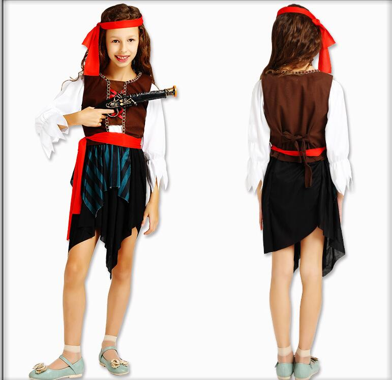 halloween pirate costumes for girls shirt deluxe cute child boy girl carnival children pirates of the caribbean costume kids