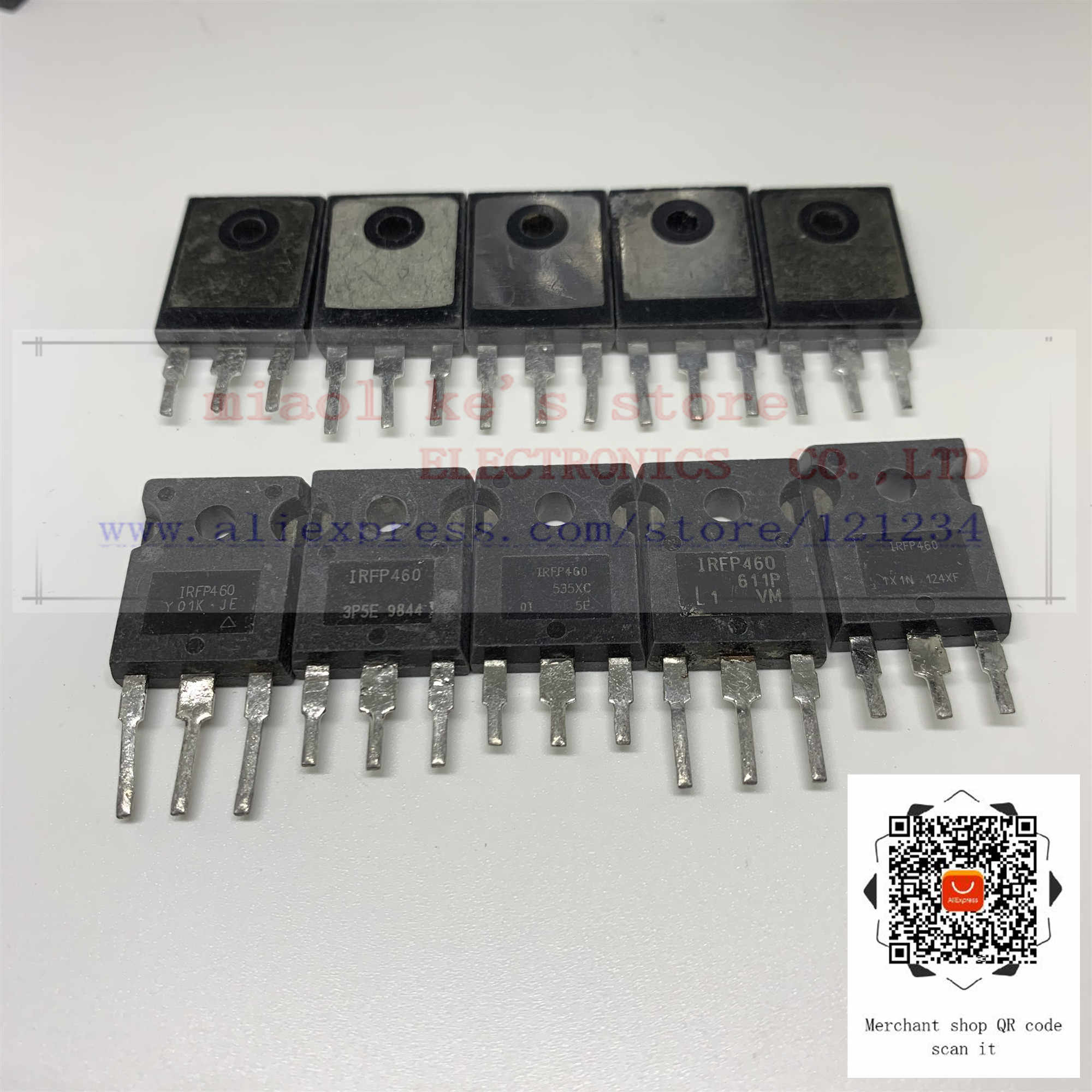 [5 個〜 10 個] 100% オリジナル; IRFP460 IRFP460N IRFP460NPBF [中古品] シースルー穴 MOSFET N-CH pval (2068) 500V 20A 280 ワット-247-3