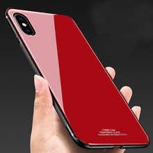 GUSGU Full Cover Protective Case For iPhone X TPU & Tempered Glass Back Cover For iPhone X Case 5.8″ Antiskid Design Phone Cases