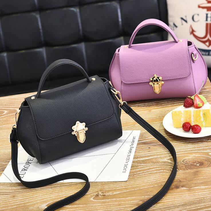 Ms hand the bill of lading shoulder bag 2017 new luxury brand Lock the single shoulder bag Oblique satchel fashion women handbag