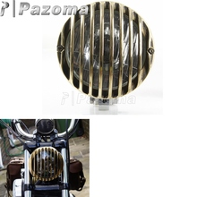 PAZOMA  Crime Scene Choppers 6.5 Rapide Headlight With Satin/Polished Body & Brass Grill