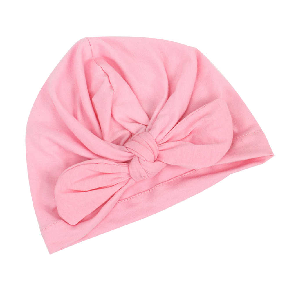 หมวกเด็ก Bowknot เด็กทารกหมวกฤดูใบไม้ร่วงหมวกเด็ก Beanie ทารกเสื้อผ้าอุปกรณ์เสริมหมวกผ้าฝ้าย Beanie หมวกฤดูหนาวหมวก