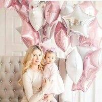 5 stuks grote wit/roze ballonnen