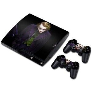 Image 2 - ג וקר ויניל עור עבור PS3 Slim קונסולת מדבקת כיסוי עבור PS3 Slim בקרי Gamepad Controle Mando מדבקות