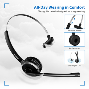Image 5 - Mpow BH231A M5 Pro Bluetooth 4.1 Headphone Wireless Headset With Noise Suppressing Mic Handsfree Headphones For Office Outdoor