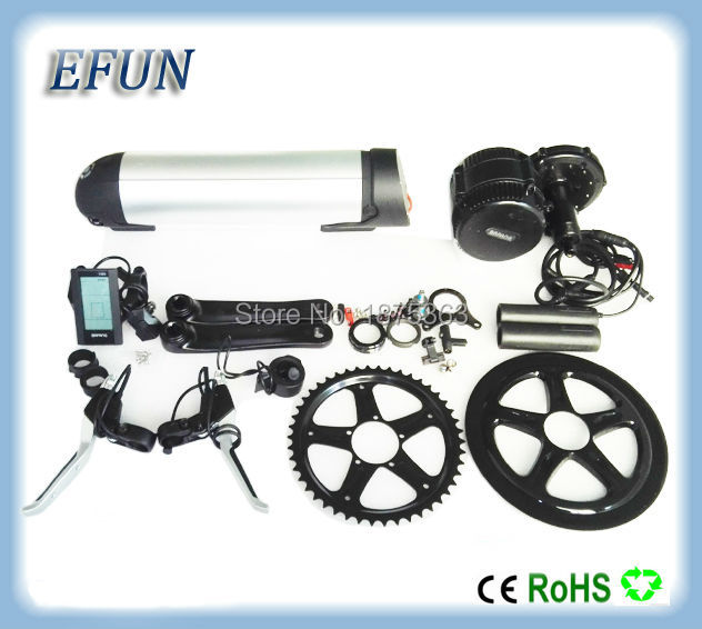Free shipping 8Fun/Bafang BBS02 48V 750W mid crank motor with 48V 16Ah new bottle/dolphin down tube battery for fat tire bike free shipping bafang 8fun ebike 48v 500w bbs02 mid crank drive motor kit with c965 or color 850c display free shipping