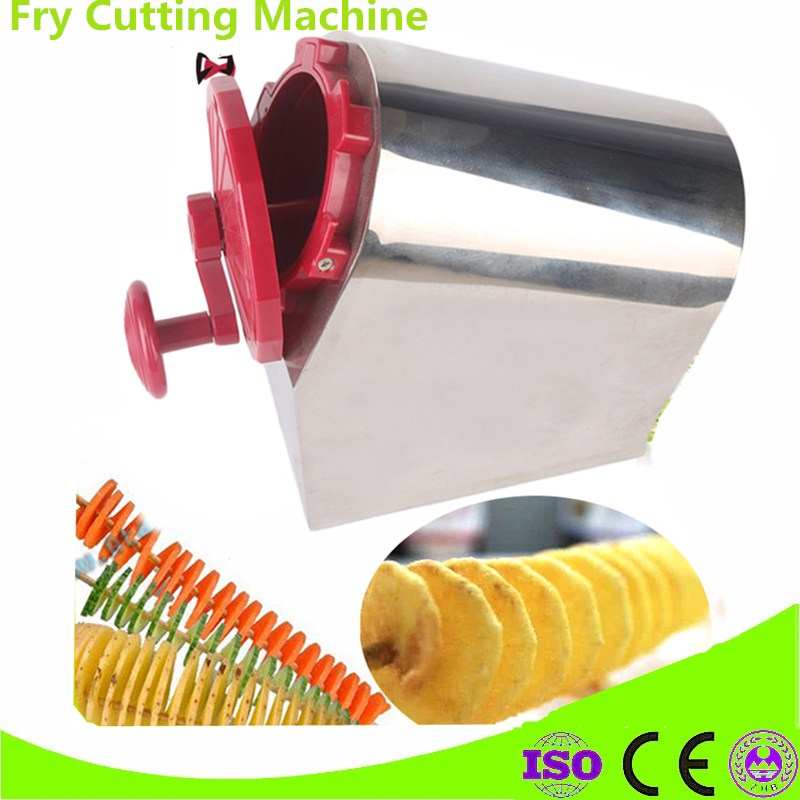 Stainless Steel + ABS Plastic Potato Slicer Twisted Carrot Cutter Tornado Chips Slicing Machine Home And Commercial Use руководство twisted картофеля фри из нержавеющей стали slicer овощей