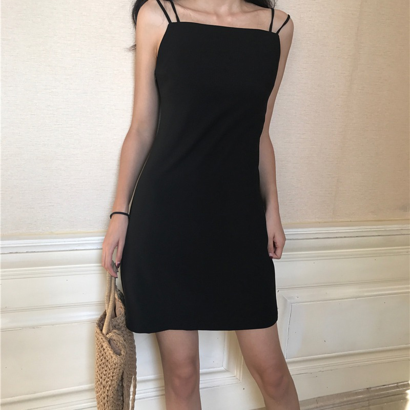 Women Solid Spaghetti Strap Dress 2019 Summer Sexy Party Dress Womens Mini Dresses Bodycon High Street Robe Femme vestidos