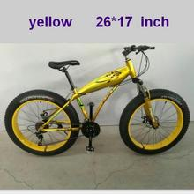 Shark in the bicycle  Speed Mountain Bike 26 * 17 Fat Tire Bikes Shock Absorbers Bicycle Free Delivery Snow 4.0 fat wheel