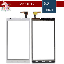 5.0 For ZTE Blade L2 LCD Touch Screen Digitizer Sensor Outer Glass Lens Panel Replacement 4 0 for zte blade l110 lcd touch screen digitizer sensor outer glass lens panel replacement
