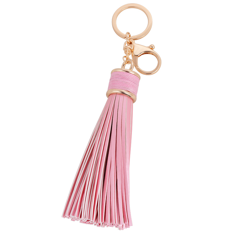 Beadsland PU Leather Tassel Pendant Women Keychain Match Handbag Car Key Buckle Fashionable Retro Gift Euramerican Hot Selling