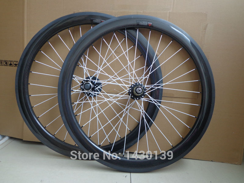 Newest 700C 50mm clincher rim Road bike 3K full carbon bicycle wheelsets with disc brake hubs