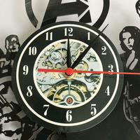 Queen Rock Band Wall Clock Modern Design Music Theme Classic Vinyl Record Clocks Wall Watch Art Home Decor Gifts for Musician