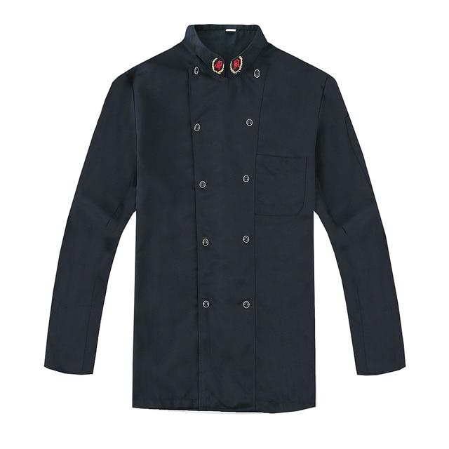 Men Women Chef Service Workwear Autumn & Winter Long Sleeve Food Cooking Clothes Hotel Restaurant Kitchen Cook Uniforms