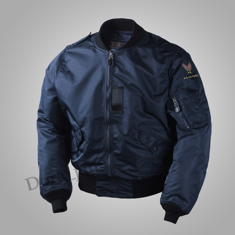 USAF Army WW2 Vintage Polit Flight Bomber Mens L2B Jacket Military L2 USAAF Spring/Fall Nylon Thin Coat Outwear MA1 Plus Size