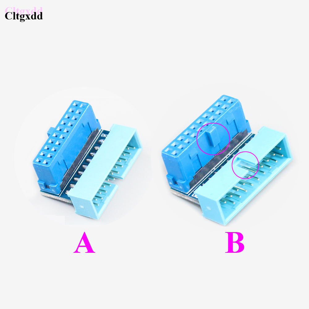 cltgxdd 10pcs 100pcs A B TYPE 19Pin 19p USB 3.0 Socket PC Motherboard Expansion SOCKET connector 90 degrees elbow Adaptor usb 3 0 19p 20p 19 pin 20 pin usb3 0 male socket 90 degree motherboard chassis front seat expansion connector and bracket cable