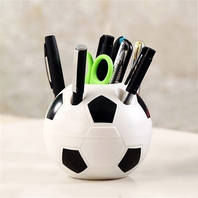 Soccer Shape Pencil or Toothbrush Holder
