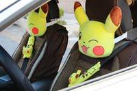 1 pair 25cm plush vehicle neck pillow hold cushion safety belt cover novelty kids romantic stuffed toy