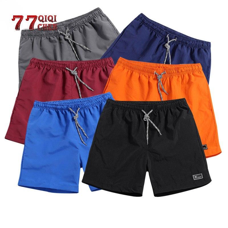 Hommes Shorts Polyester Shorts pour hommes nouveau 2019 été solide respirant taille élastique décontracté Homme Shorts mâle Bermuda Homme