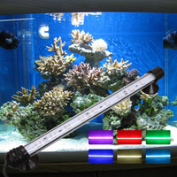 Super Brightness 5050 RGB LED Fish Tank Submersible Light Lamp With Remote Control Waterproof MF-28 SMD LED Aquarium Light
