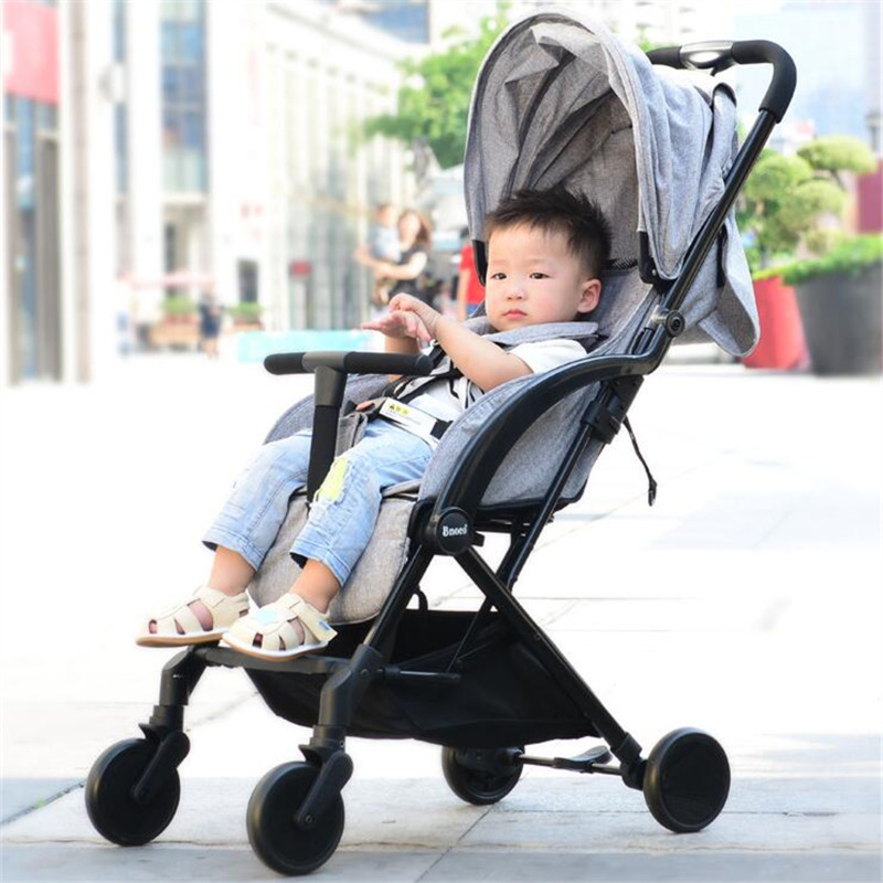 Luxury Portable Lightweight Baby Stroller 2 In 1 Umbrella Fold Baby Carriage Pram Pushchairs For Newborn Bebek Arabasi contrast trim flutter sleeve lace top