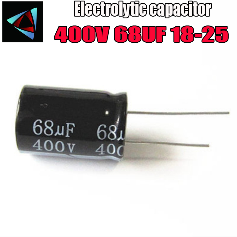 Higt Quality 400V 68UF 18-25mm 68UF 400V 18*25 Electrolytic Capacitor
