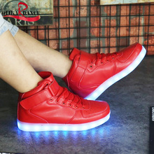 2017 New Arrival 7 Colors 11 Models  Led shoes for Adults Unisex/ Lovers USB Rechargeable couple Shoes