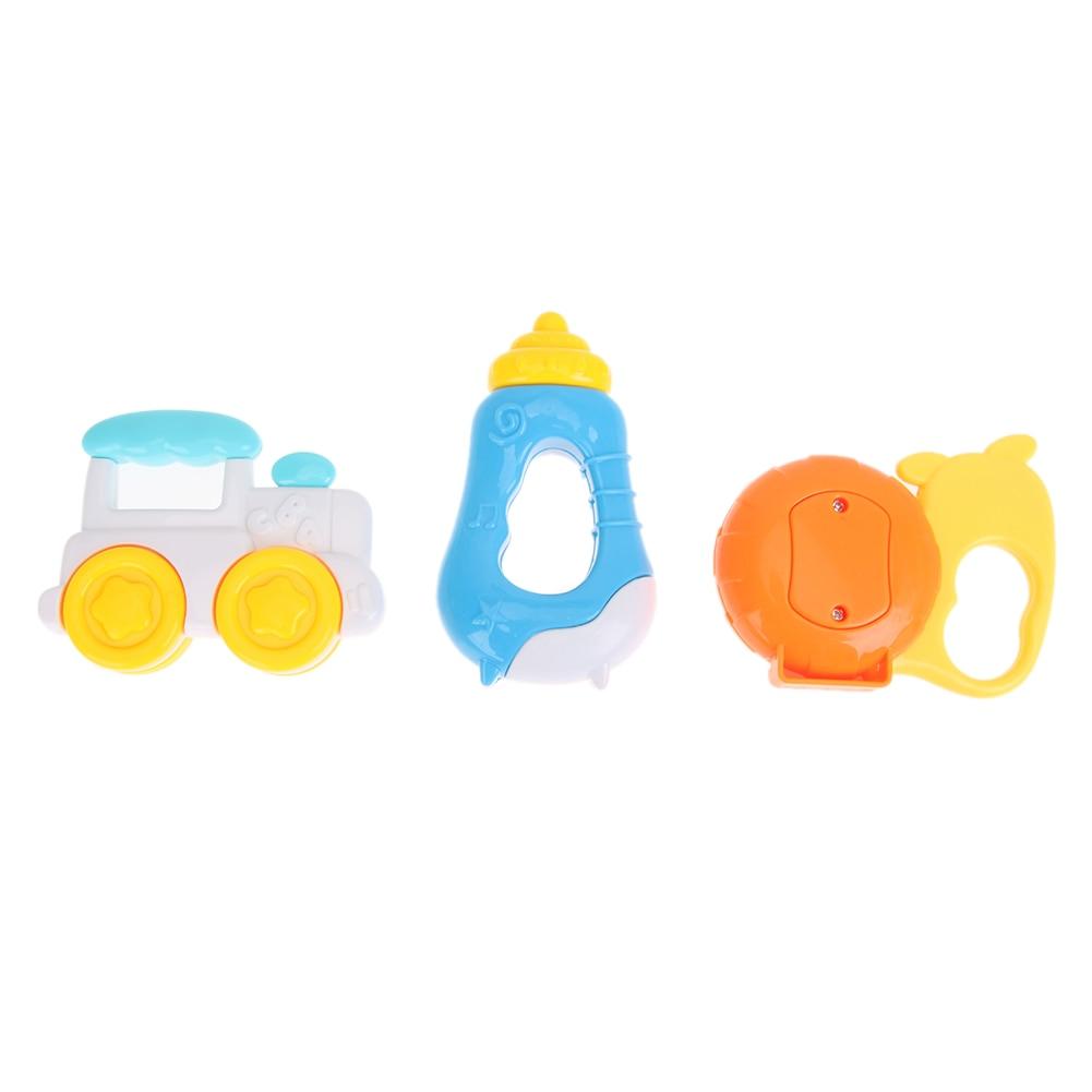 3пцс Баби Хандбеллс Инфант Цартоон - Играчке за бебе и малишане - Фотографија 4
