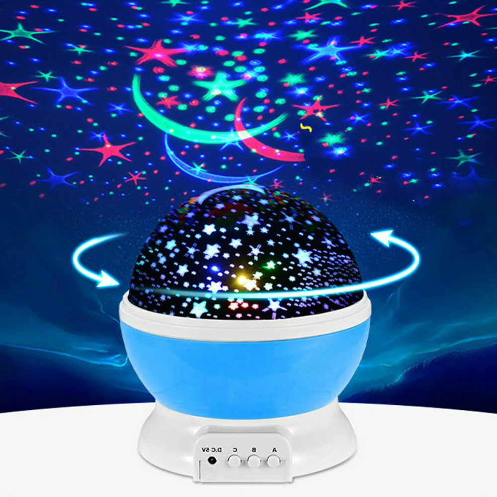 Starry Sky Projector Lamp Rotating LED Sleep Night Lights USB Novelty Luminous Lampara Creative Romantic Birthday Gift for Kids