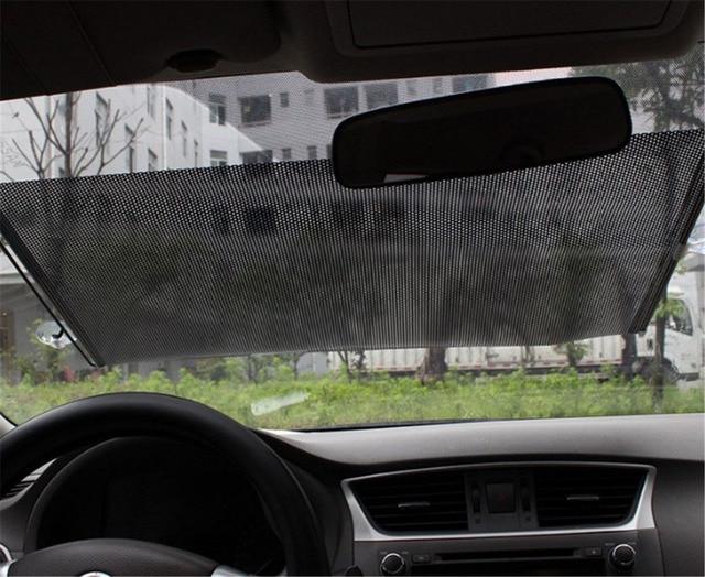 68 125cm Auto Retractable Car Auto Curtain Front Window
