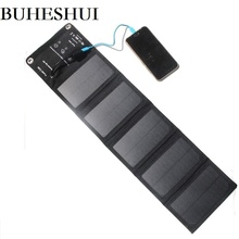 BUHESHUI 10W 5V NEW Foldable Universal Camping Travel Solar Panel USB Charger pack for iPhone Smartphones