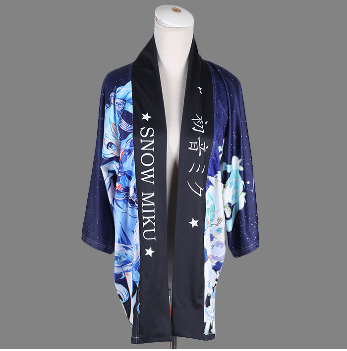 цены Japanese Kimono Traditional Yukata Cardigan Haori Hatsune Miku VOCALOID Coat Cosplay Shawl Bathrobes
