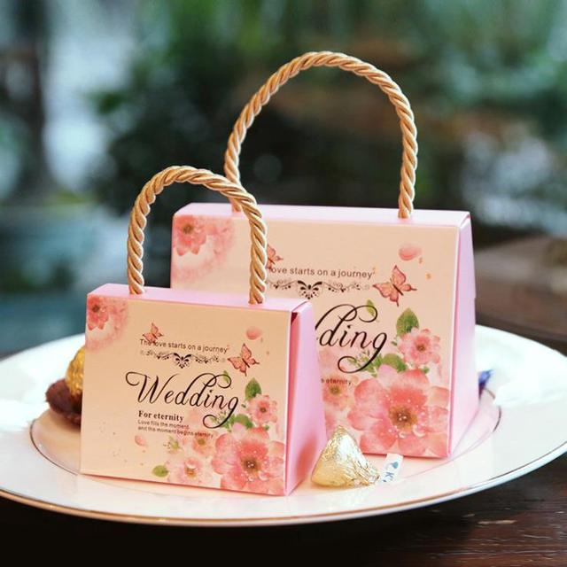 Wedding Favor Box Fl Candy Favors Gift Chocolate Cookie Bo For Guest