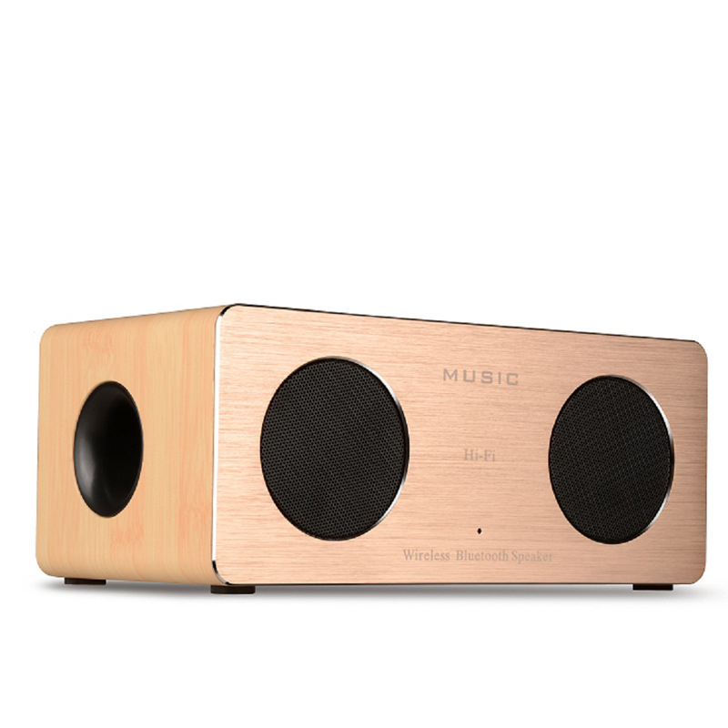 3D Surround Sound 2000Mah Wood Bluetooth Speaker Super Bass TV Computer Wireless Bluetooth Speaker Box