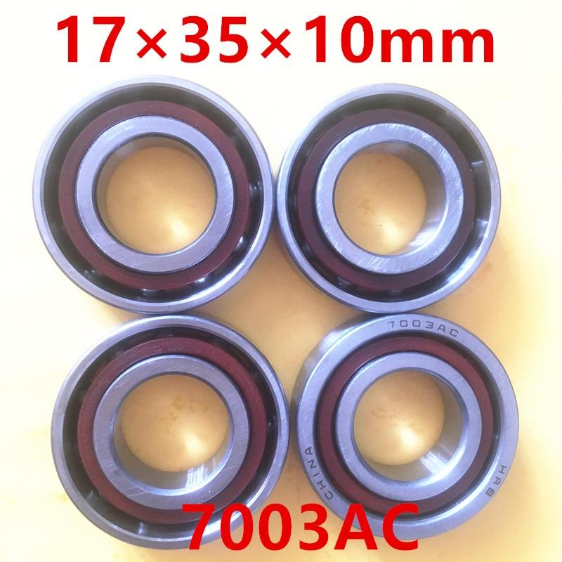 2017 Thrust Bearing 17mm Diameter Angular Contact Ball Bearings 7003 Ac 17mmx35mmx10mm,contact Angle 25,abec-1 Machine Tool 75mm diameter four point contact ball bearings qj 215 n2q1 p63s0 75mmx130mmx25mm abec 3 machine tool blowers