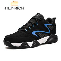 HEINRICH/2018 мужские кроссовки осень-зима, Повседневная модная мужская обувь, кожаная удобная обувь на шнуровке, Zapatos Deportivos De Hombre