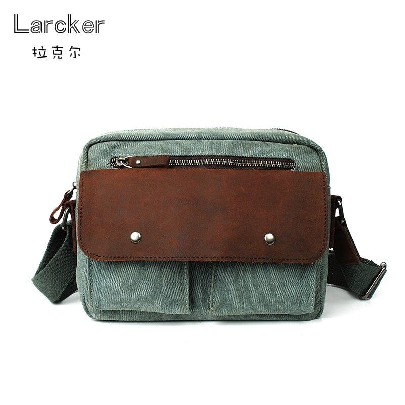 Classic casual bag canvas men travel handbag 100% cowhide cover fashion patchwork freestyle men crossbody messenger bag casual canvas satchel men sling bag