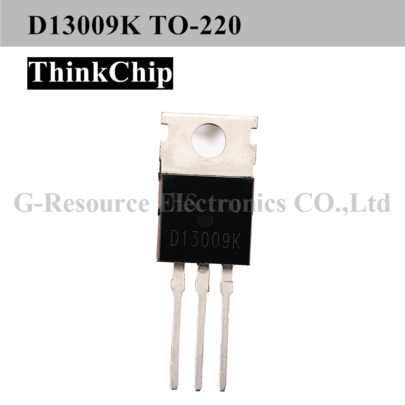 Free Shipping 10 PCS / Lot D13009K TO-220 HIGH VOLTAGE FAST-SWITCHING NPN POWER TRANSISTOR New Original