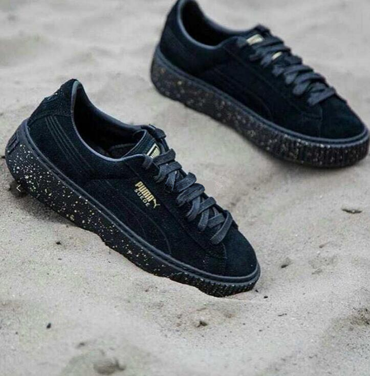 0319be32c7a7 New PUMA FENTY Suede Cleated Creeper Womens First Generation Rihanna Classic  Basket Suede Tone Simple Badminton