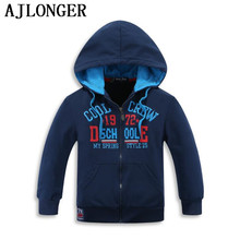 Купить с кэшбэком AJLONGER New 2017 Hot Sale Fashion Leisure Long Sleeve Hooded Cotton Kids Boys Children Hoodies Sweatshirts