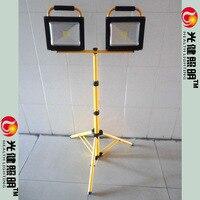 100 Вт перезаряжаемый светодиодный свет Рабочая портативный Перезаряжаемый Светодиодный прожектор напольный 100 Вт
